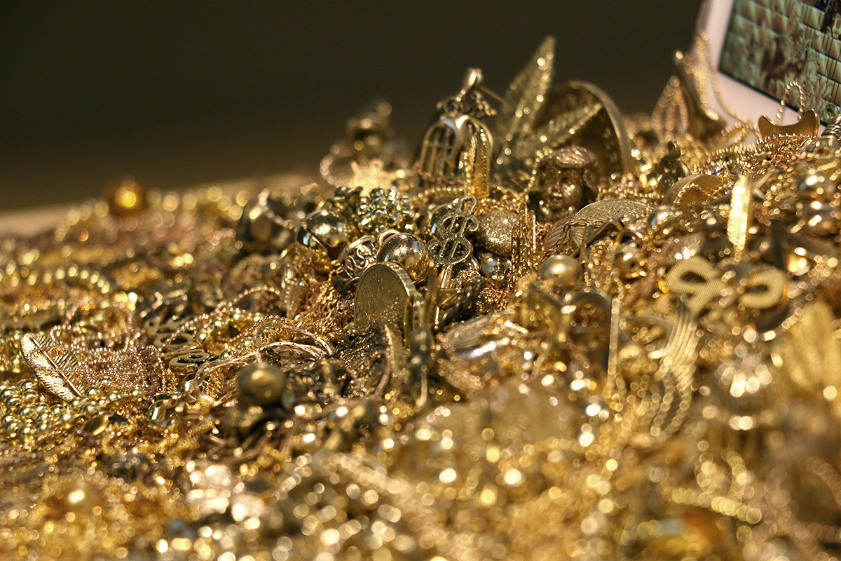 gold and glitter